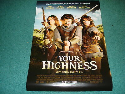 Your Highness Orig 27x40 Movie Poster Natalie Portman 1999