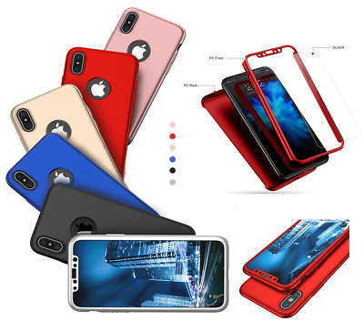 Coque Housse Etui Integrale 360° Pour Apple Iphone X Xs Max Xr + Verre Trempe
