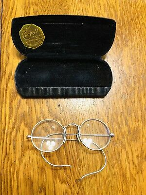 Vintage Eye Glasses Gold Filled Ornate Filigree Wire Rimmed W Case