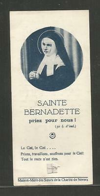 Image Pieuse Holy Card Santino Andachtsbild Relique Bernadette