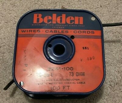 100ft. Belden 8241 High Quality RG59 /U 75Ω Coaxial Cable Analog Video 22AWG BLK