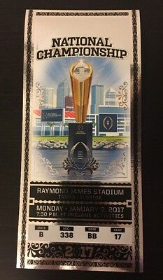 2017 College Football Playoff National Championship Ticket Stub Souvenir Alabama