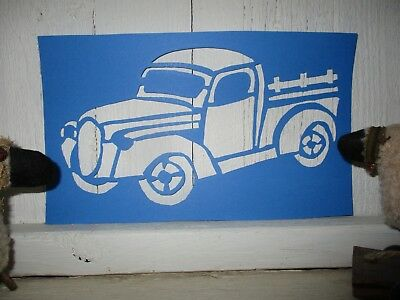 Primitive ENJOY THE JOURNEY old time TRUCK new calligraphy cardstock STENCIL Q 2