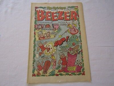 2 Beezer comics, Christmas edition, 1989 and another from 1985