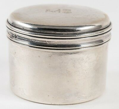 Gustave Keller Freres French Art Deco All Sterling Round Box