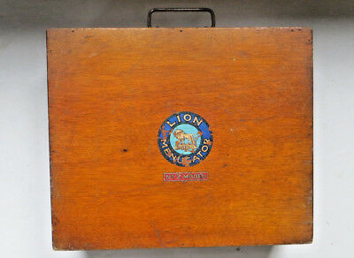 Vintage Wooden Box With Original Metal Fittings - Measures 30 X 25.5 X 12 Cms
