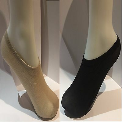 Ladies 50%Cotton-50%Nylon Footsies (Shoe Liners) Size 4-7 In, 2 Pair Pack