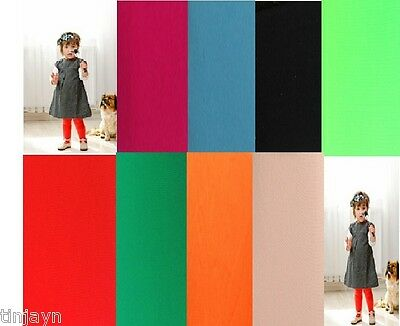 Children 40 Denier Tights, age from 3 to 14 years,pink,black,green,red,turquoise