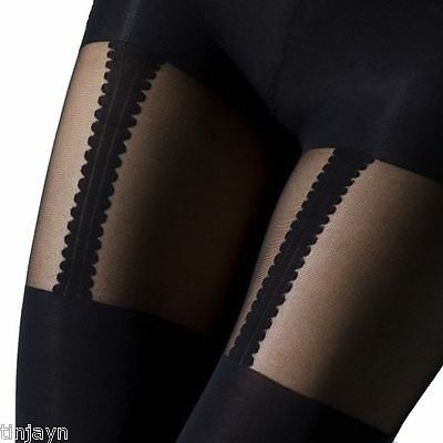 Sexy Mock black Stockings Suspender Garter Tights Ladies woman's,one size,