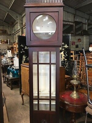 Upcycled Grandfather Clock Case Shelf Cabinet Display Unit