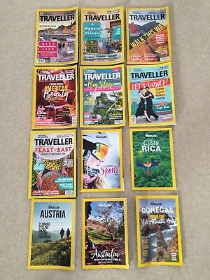 National Geographic Traveller Magazine Job Lot March To October 2017 Editions!!!