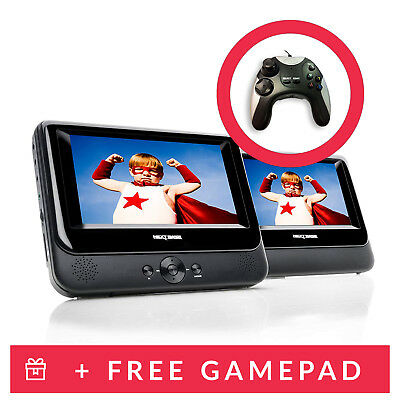 Nextbase 7 inch In Car Portable DVD Twin Player with Mount & A Controller