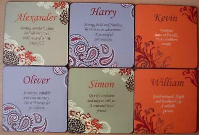Personalised Coasters - Brand New - Male Names And Meanings