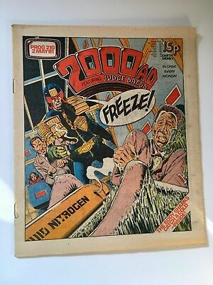 2000Ad Prog 210 (2 May 1981) Very Good Condition