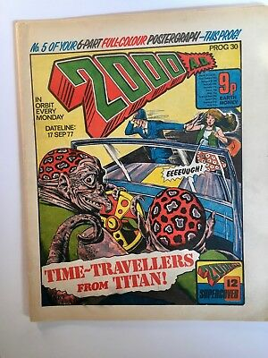 2000Ad Prog 30 (17 September 1977) Very Good Condition