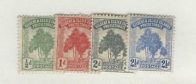 Gilbert & Ellice Islands, Postage Stamp, #8-11 Mint Hinged, 1911, JFZ