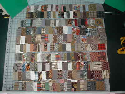 Vintage Hand Stitched Four Patch Blocks Lot of 140+