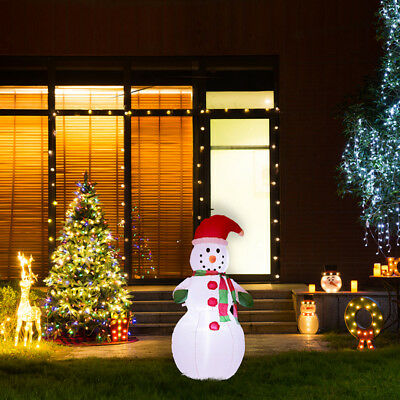 Glitzhome 3.94FT Lighted Inflatable Little Snowman Christmas Outdoor Yard Decor