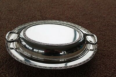 "Vintage Wallace Luxor Silver Plate 11 ½"" Covered  Dish ""Montrose"""