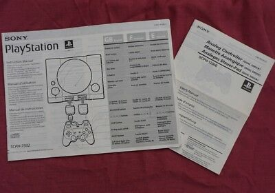 Instruction Manuals (SCPH-7502): SONY PlayStation PS1+ Analog Controller Manual