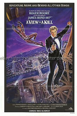 View to a Kill Roger Moore 1985 US Eiffel Tower Advance Movie  Poster