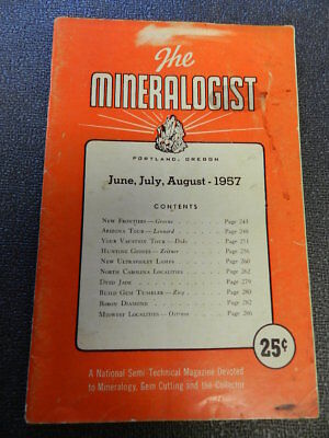 Vintage 1957 The Mineralogist Magazine- Portland, Or.- Vintage Rock Collecting