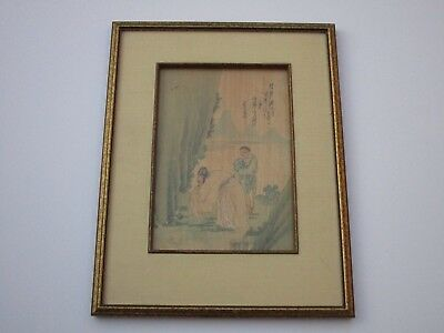 Antique Chinese Collection Painting Signed Story Traditional Vintage Iconic Old