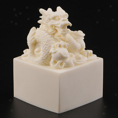 Collectibles Antique Chinese Dynasty King Imperial Seal Stamp Dragon Statues