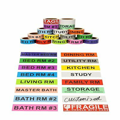 16 Rolls Color Coding Home Labels Box Different Moving Packing Fragile Stickers