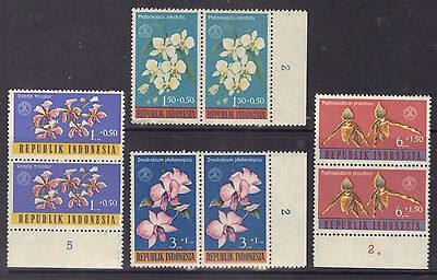 Orchids-Indonesia1962.Set,ScB146-9.MNH.