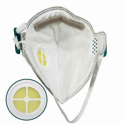 FFP3 NR Face Mask Valved Asbestos Respirator Disposable Moulded Fold Flat