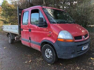 2005 05 Renault Master Late Shape Tipper -- Lwb 2.5 Dci - 6 Seats - Big Bed