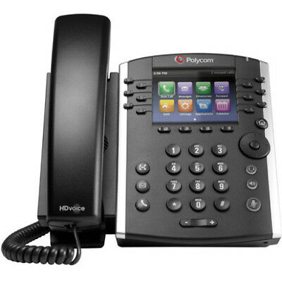 Polycom VVX 410 VoIP phone 12 Line with Power Adapter P/N: 2200-46162-001