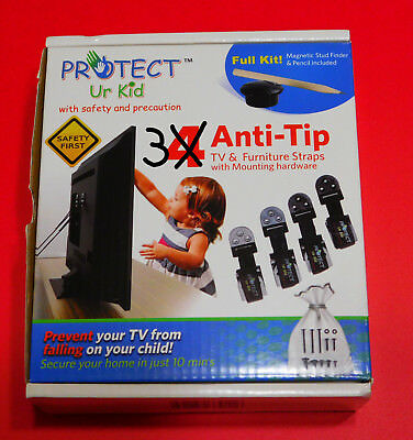 TV & Furniture Anti tip Safety Anchor Straps, Earthquake Safe, Child & Baby