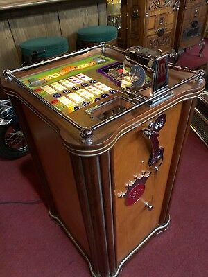 """1940's 25 Cent PACE REELS Console Slot Machine Fully Restored """"Watch Video"""""""
