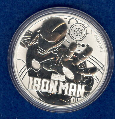 2018 Tuvalu Marvel Comic Series 1 oz Silver Iron Man Coin - Gem Bu