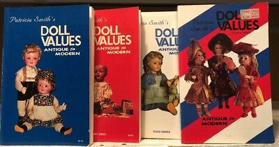 Book Lot Doll Values Antique To Modern 1st - 4th In Series Patricia Smith