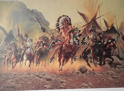 """Frank Mccarthy """"to Battle"""" Signed Limited Edition Print New Pristine Condition"""