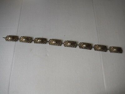 Antique / Vintage Concho Belt - 8 sections - 28 inches... Made in Spain