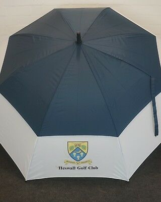 Black & White Heswell Golf Club Automatic Double Canopy Golf Umbrella
