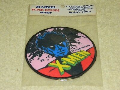 "1984 Marvel Super Heroes Patches X-Men #6 4"" Cloth Patch"