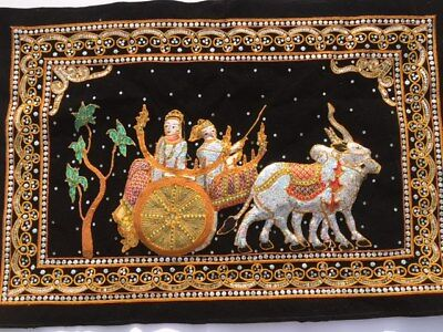 Burmese KALAGA TAPESTRY Hand Embroidered Wall Hanging