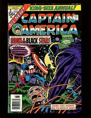 Captain America Annual #3 VF- Kirby Giacoia 1st Thing From The Black Hole Star