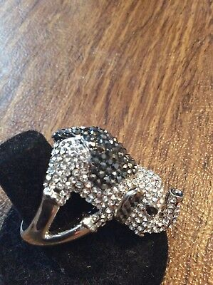elephant ring With Crystals