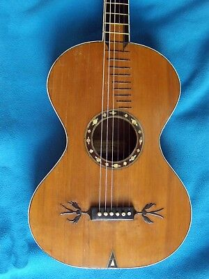 "Rare Antique Early Romantic Guitar ""a. Postacchini"""