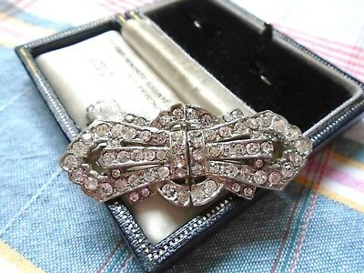 Beautiful Vintage Art Deco Duette Brooch Pair Matching  Dress Clips