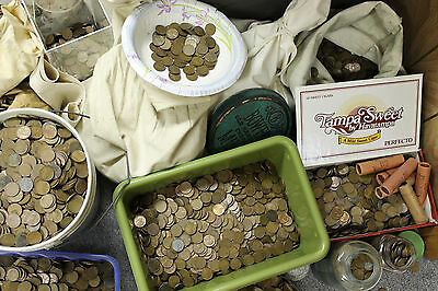 1000 Wheat cents - unsearched - pennies, steel cent - old