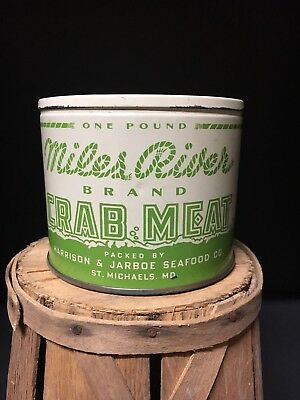 Miles River Crabmeat Tin Can Saint St Michaels Maryland. Not Oyster