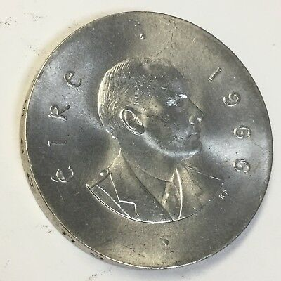 1966 - 10 SHILLINGS IRISH SILVER COIN - 83.3% SILVER- EASTER RISING - See Pics