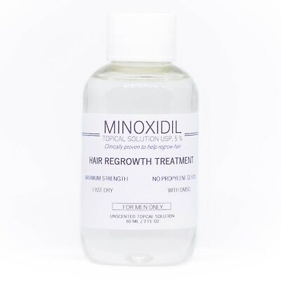 Minoxidil 5% Hair Regrowth Solution Extra Strength Men - NO PG / FAST DRY / DMSO